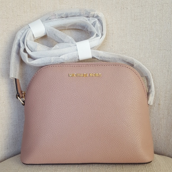 3dfff1383fe0 NWT Michael Kors MD Adele dome X-body bag fawn MK